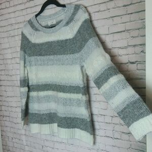 LOU & GREY textured striped cozy sweater
